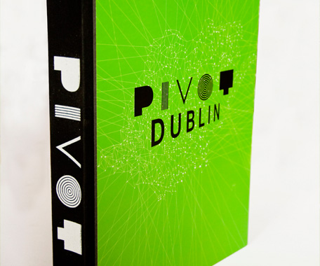 We were invited to design a cover for the Pivot Dublin World Design Capital project bid document (the logo type was supplied).
